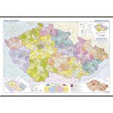 Česká republika - školní administrativní mapa 1:375 tis.