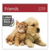 Kalendář nástěnný 2019 - Friends
