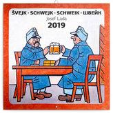 Kalendář poznámkový 2019 - Švejk – Josef Lada, 30 x 30 cm