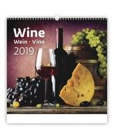 Kalendář nástěnný 2019 - Wine/Wein/Víno