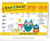 Školní plánovací kalendář s háčkem 2019,