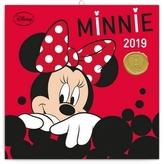 Poznámkový kalendář Minnie 2019, 30 x 30