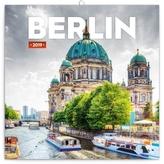 Poznámkový kalendář Berlín 2019, 30 x 30