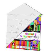 Namaluj si sám puzzle: domeček