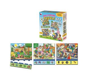 Moje rodina: Puzzle set 3 v 1 - neuveden