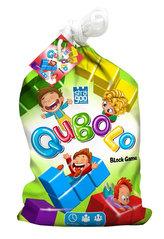 Qubolo - Společenská hra s dřevěnými kostkami v látkovém pytlíčku STRAGOO