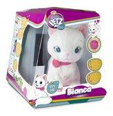 Kočka Bianca mluvící hýbající se plyš 25cm na baterie v krabici