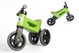 Odrážedlo zelené FUNNY WHEELS NEW SPORT 2v1 výška sedadla nastavitelná 28/31cm nosnost 50kg 18m+