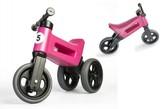 Odrážedlo růžové FUNNY WHEELS NEW SPORT 2v1 výška sedadla nastavitelná 28/31cm nosnost 50kg 18m+