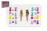 Panenka měnící šaty 2ks 8cm s doplňky plast v krabici 26x18x4cm