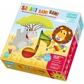 Safari Bim! Bam! hudebně-pohybová hra 10v1 + velký dřevěný xylofon v krabici 27x27x6cm