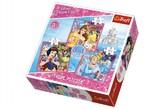 Puzzle 3v1 Princezny Disney 20x19,5cm v krabici 28x28x6cm