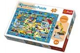 """Puzzle """"Hledání předmětů"""" Na Staveništi 48x34cm 70dílků v krabici 33x23x6cm"""
