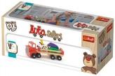 Auto nákladní safari dřevěné 26,5cm Wooden Toys v krabici 27,5x11,5x9,5cm 18m+