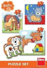 Puzzle set zvířátka 3-5 baby