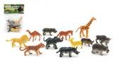 Zvířátka safari plast 6cm 12ks v sáčku