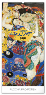 Nástěnný kalendář Gustav Klimt 2020, 33 × 64 cm