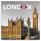 Kalendář poznámkový 2020 - Londýn, 30 × 30 cm