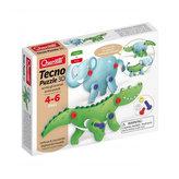 Tecno Puzzle 3D slon a krokodýl