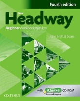 New Headway 4th edition Beginner Workbook with key (without iChecker CD-ROM)