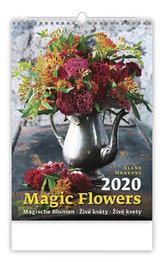 Kalendář nástěnný 2020 - Magic Flowers/Magische Blumen/Živé květy/Živé kvety
