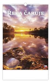 Kalendář nástěnný 2020 - Řeka čaruje