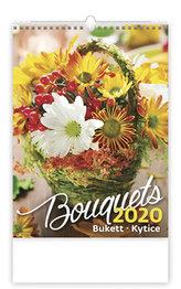 Kalendář nástěnný 2020 - Bouguets/Bukett/Kytice