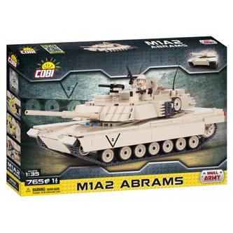 Stavebnice COBI 2608 Small Army Tank M1A2 Abrams 135/765 kostek+1 figurka
