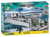 Stavebnice COBI 4813 II World War Vyloďovací člun DDAYLCVP Higgins Boat 135/510 kostek+3 figurky