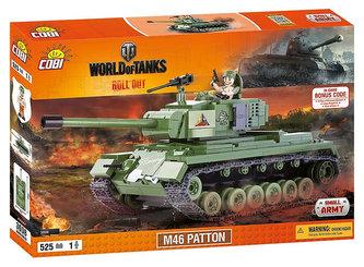 Stavebnice COBI 3008 WORLD of TANKS Tank M46 Patton/525 kostek+1 figurka