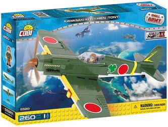 Stavebnice COBI 5520 II World War Stíhací letoun Kawasaki Ki61 II Hien/260 kostek+1 figurka