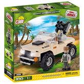 Stavebnice COBI 2199 Small Army Pouštní dělostřelecké vozidlo/100 kostek+ 1 figurka