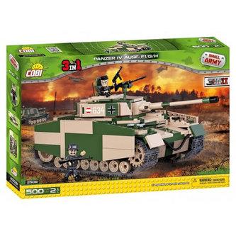 Stavebnice COBI 2508 II World War Tank PzKpfw IV Ausf F1/G/H (3 v 1)/500 kostek+2 figurky