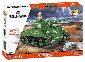Stavebnice COBI 3007A WORLD of TANKS Tank M4 Sherman/500 kostek+1 figurka