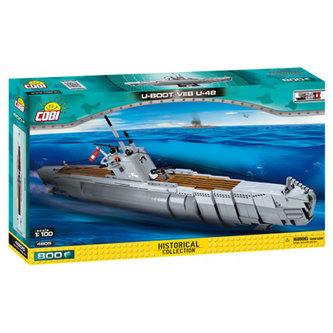 Stavebnice COBI 4805 II World War Německá ponorka UBoot VIIB U48, 1100/800 kostek