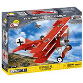 Stavebnice COBI 2974 Great War Stíhací letoun Fokker Dr. 1 RED BARON/175 kostek+1 figurka