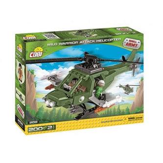 Stavebnice COBI 2158 Small Army Útočná helikoptéra Wild Warrior/200 kostek+2 figurky