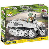 Stavebnice COBI 2168 II World War Vozidlo SdKfz 2 Kettenkrad HK101/200 kostek+1 figurka