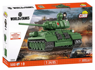 Stavebnice COBI 3005A WORLD of TANKS Tank T34/85/ 500 kostek+1 figurka