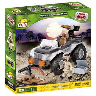 Stavebnice COBI 2197 Small Army Mobilní odpalovač/100 kostek+1 figurka