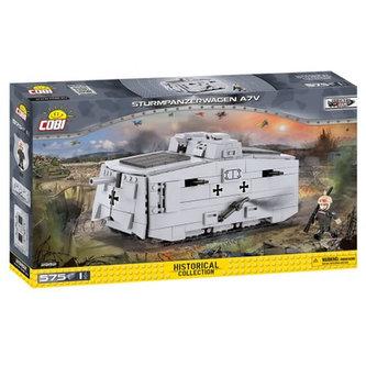 Stavebnice COBI 2982 Great War Tank Sturmpanzerwagen A7V/575 kostek+1 figurka