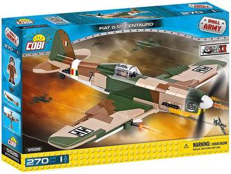 Stavebnice COBI 5528 II World War Bojový letoun Fiat G55 Centauro/270 kostek+1 figurka
