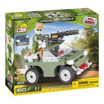 Stavebnice COBI 2155 Small Army Vojenské vozidlo/60 kostek+1 figurka