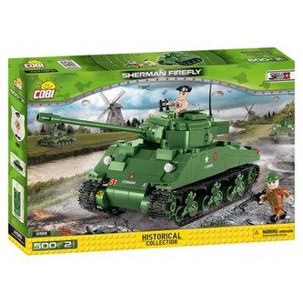 Stavebnice COBI 2515 II World War Tank Sherman Firefly/500 kostek+2 figurky