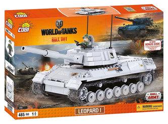 Stavebnice COBI 3009 WORLD of TANKS Tank Leopard I/485 kostek+ 1 figurka