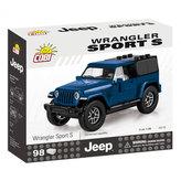 Stavebnice COBI 24115 Jeep Wrangler Sport S 135 modrý/98 kostek