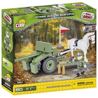 Stavebnice COBI 2184 II World War Kulomet Bofors 37 mm vzor 36/80 kostek+2 figurky