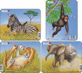 Puzzle MINI - Divoká zvířátka/9 dílků (4 druhy)