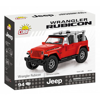 Stavebnice COBI 24114 Jeep Wrangler Rubicon 135, červený/94 kostek