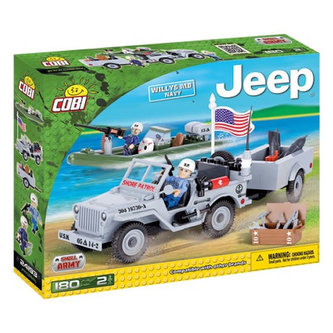 Stavebnice COBI 24193 Jeep Wyllis US Navy/ 190 kostek+2 figurky